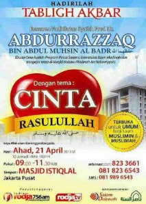 Pamflet 21 April 2013, Istiqlal