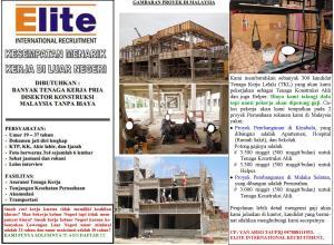 Iklan Lengkap Job Konstruksi Malaysia