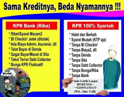 beda kpr Bank dan Syariah