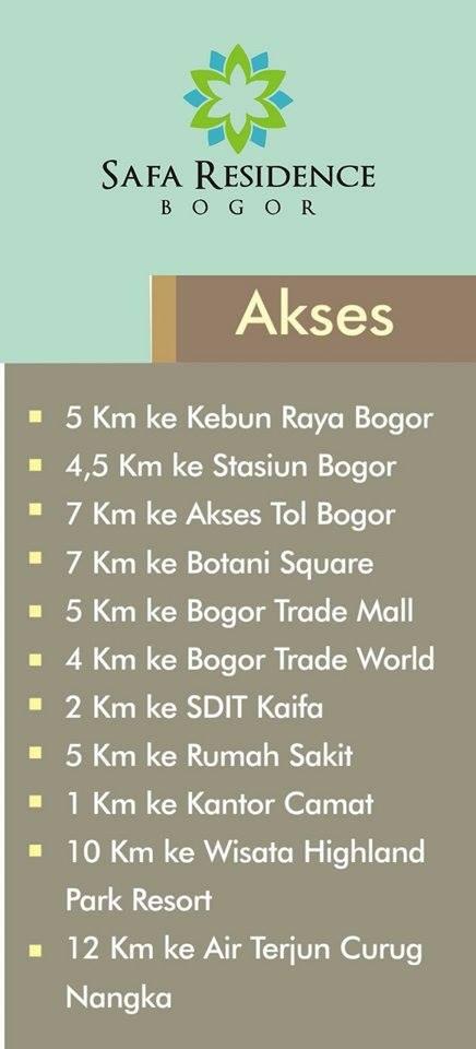 akses-safa-townhouse-residence-ciomas-bogor