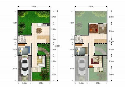 blueprint-safa-townhouse-residence-ciomas-bogor