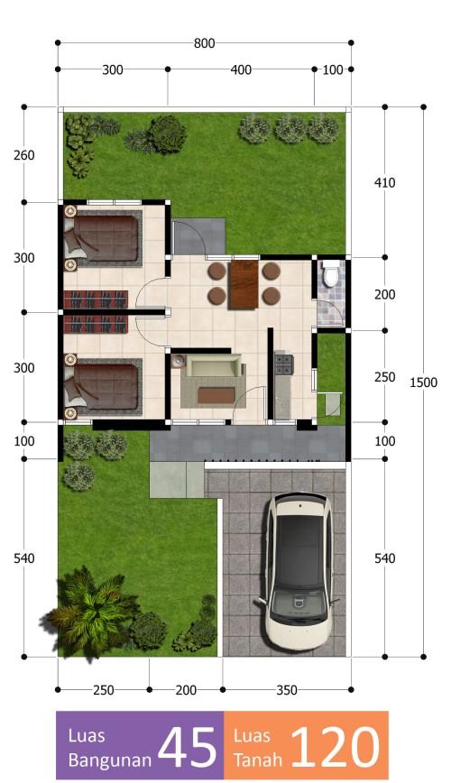 blueprint-tipe-45-samara-residence-4-semarang