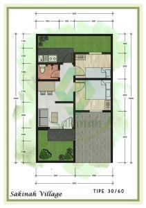 blueprint-type-30-60-sakinah-village-bekasi