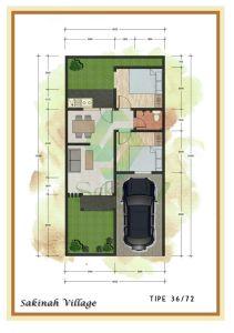 blueprint-type-36-72-sakinah-village-bekasi
