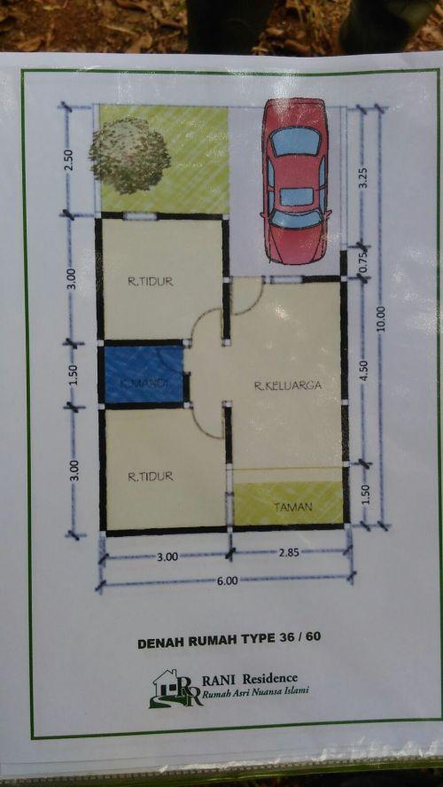 blueprint-type-36-rani-residence-pamulang-tangerang