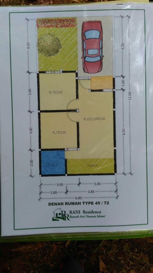 blueprint-type-45-rani-residence-pamulang-tangerang