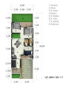 blueprint-type-54-al-ikhlas-residence-ungaran-semarang