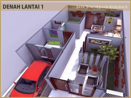 denah-lantai-1-safa-townhouse-residence-ciomas-bogor