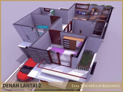 denah-lantai-2-safa-townhouse-residence-ciomas-bogor