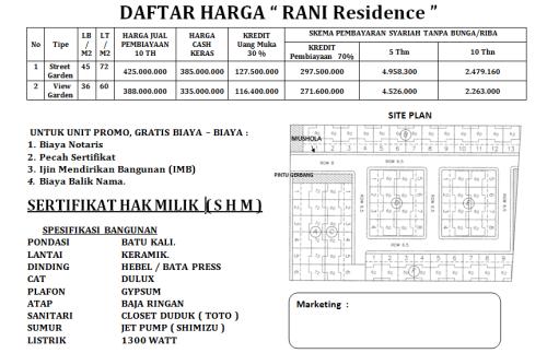 pricelist-mei-2016-rani-residence-pamulang-tangerang