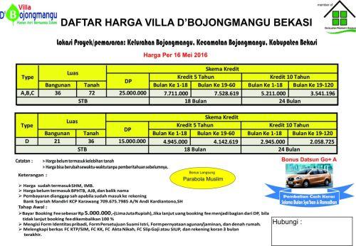 skema-harga-villa-dbojongmangu-bekasi