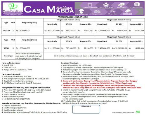 tabel-harga-casa-mabda-1-jagakarsa